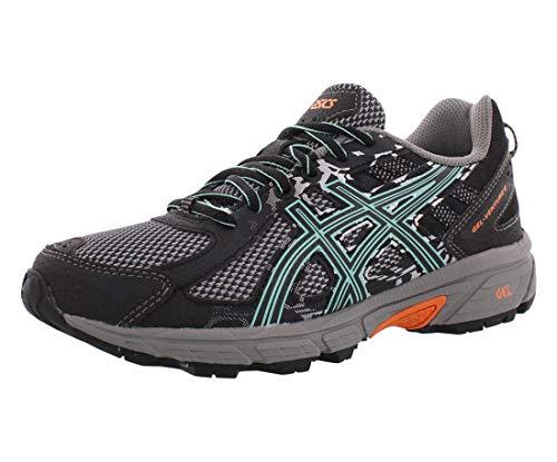 ASICS Women's Gel-Venture 6 Running Shoe, Black/Ice Green/Orange, 8.5 M US