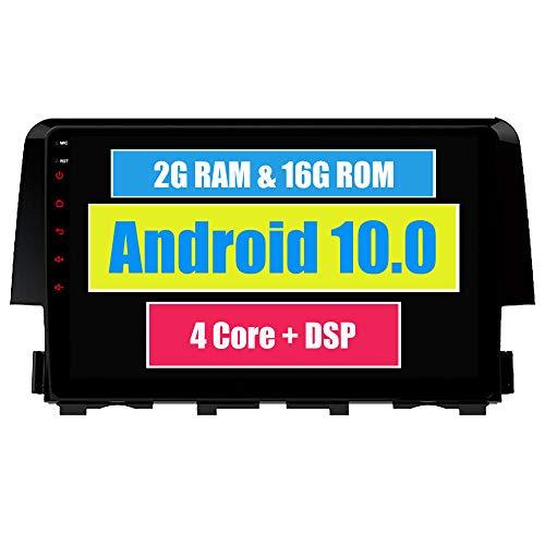 RoverOne Android 7.1 Système Pour Honda CIVIC 2015 2016 Autoradio Lecteur avec Autoradio Stéréo Navigation GPS Bluetooth HDMI MirrorLink Quad Core Système Multimédia