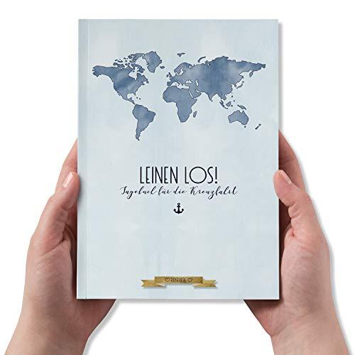Kreuzfahrt-Tagebuch zum Ausfüllen, Einkleben und Ankreuzen, Reisetagebuch, DIN A5, 60 Seiten - Kollektion: Reiseliebe