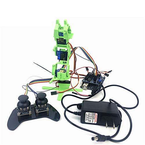 WYY Montage DIY Roboter-Kit, 4DOF Roboterarm, Echanische Roboter-Klammer-Greifer-Kit, Für Arduino, Mit Servo-Controller Und