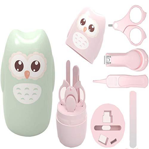 Baby Nagelpflegeset,Biluer 2 Sätze Baby Nagelknipser Nasenpinzette Baby Nagelscheren Baby Nagelfeile Baby Maniküre Set gehört für Kinder und Neugeborene (Pink,Grün)