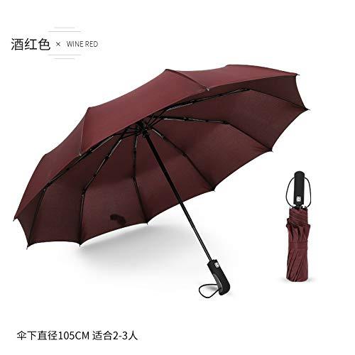 Paraplu paraplu's creatieve paraplu 10 bot vouwen paraplu wind en regen dual-use business paraplu automatische paraplu unisex