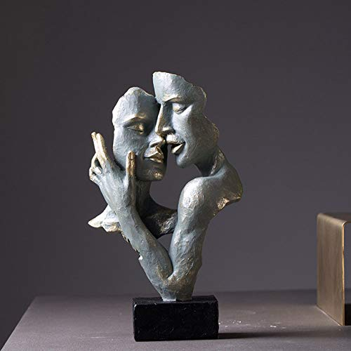 HUANSUN Modern Statue Creative Abstract face Art Living Room Nordic Furniture and Decorations,A