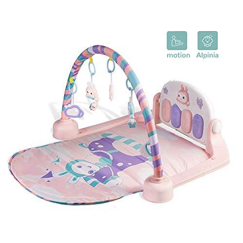 Baby Activity Gym, Baby Mats Pasgeboren Toys Met Piano Cartoon Animal Geschikt Voor Baby 1-36 Maanden