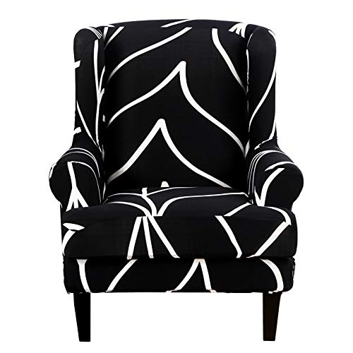 SHANNA Armchair Covers, Spandex Sofa Cover Stretch Wing Chair Slipcover for Armchairs - Wingback Chair Covers