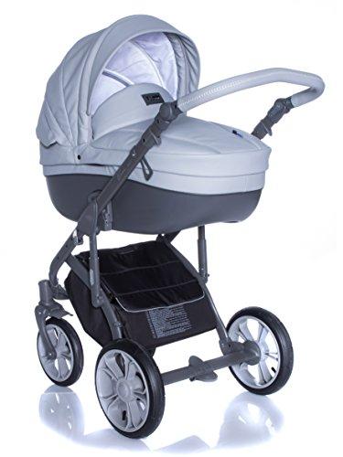 Kombi Kinderwagen Travel System ROAN BASS SOFT DOVE-GREY 3in1 Buggy Sportwagen Babyschale Autositz KITE 0-13kg