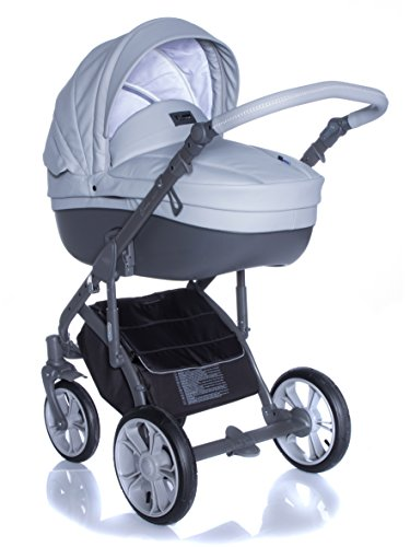 Kombi Kinderwagen Travel System ROAN BASS SOFT DOVE-GREY 3in1 Buggy Sportwagen Babyschale Autositz KITE 0-13kg