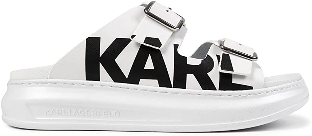 Sale KARL LAGERFELD Womens Kapri New products, world's highest quality popular! Double Platforms Whit Buckle Sandals