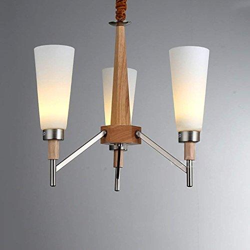 DSJ kroonluchter Scandinavisch massief houten kroonluchter geleid woonkamer gepersonaliseerde kroonluchter slaapkamer eettafel lichten