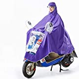 YUHT Unisex Portátil EVA Impermeable Abrigo Poncho Sudadera con Capucha Hombre o Mujer Motocicleta/Bicicleta Lona Entorno para Viajes/Camping/Ciclismo Actividad Outdoor-3XL Rack de Ropa