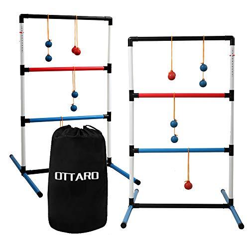 OTTARO Ladder Toss Ball Game Set for Outdoor Indoor, Ladder Golf Game...