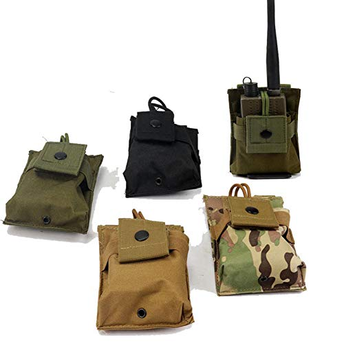 Select Zone Bolsa táctica multifuncional Walkie-talkie al aire libre militar para teléfono móvil universal (color: camuflaje)