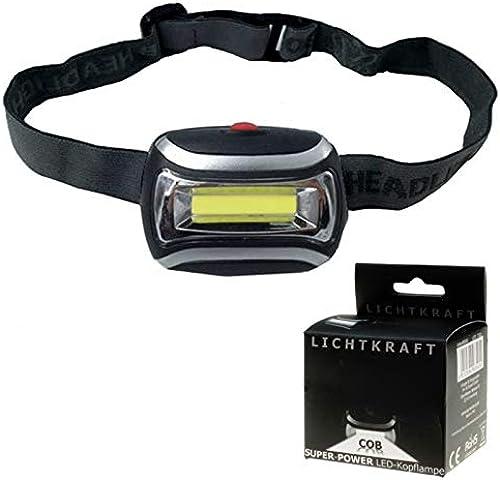 Kingdiscount 100 Stück Lichtkraft Taschenlampe Lichtkraft Kopflampe Cob