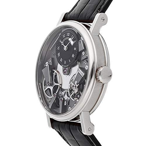 Breguet Tradition Noir Squelette Cadran Or Blanc 18carats Cuir Noir Montre pour Homme...