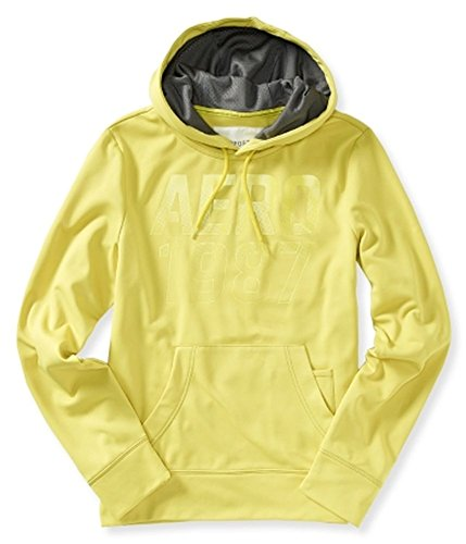 Aeropostale Mens 1987 Popover Hooded Hoodie Sweatshirt, Green, X-Small