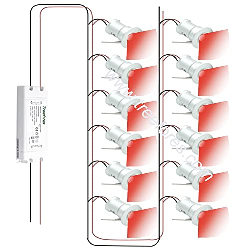 FYYONG 1Watt 12VDC 220V 240V LED Mini Downlight D50mm Insertar Iluminación con la fuente de alimentación Triac Lámpara de punto de la escalera de la pared (Body Color : Blue)