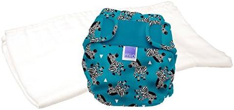 Bambino Mio Miosoft–Pañales reutilizables Trial Pack (tamaño 2, Zebra Crossing)