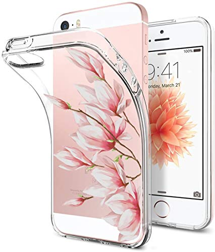 iPhone 5/5s/SE Case TPU Silicone Rubber Cute Anti-Scratch Slim Ultra Protective Clear Shock-Absorption Bumper Soft Amusing Design for Apple i Phone5 Cover (Color 16, iPhone 5/5s/SE)