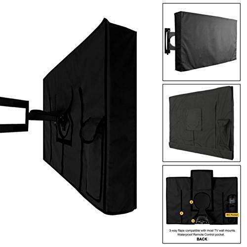 ZXF Cubierta TV exteriores Pantalla De TV Al Aire Libre A Prueba De Polvo A Prueba De Agua Material De Protección De La Cobertura Juego De Tapas De Oxford Negro Caso Televisión TV De 22 '' A 65 '' Pul