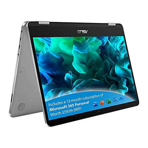 ASUS Touchscreen VivoBook Flip with Microsoft Office 365 - TP401MA 14 Inch...