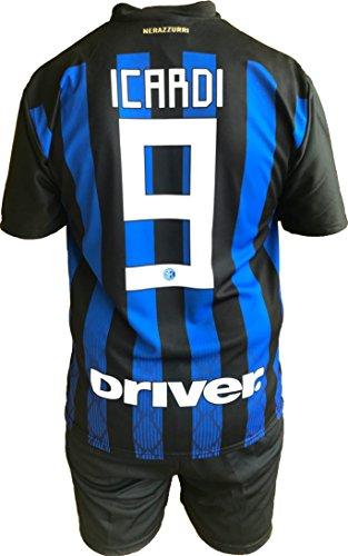 Trikot Trikot Fußballhose Inter F.C. Mauro Icardi offizielle Replik zugelassen 2018-2019 Kinder (2,4,6,8,10,12 Jahre) Erwachsene (Small, Medium, Large, XLarge) (Größe 4 Jahre)