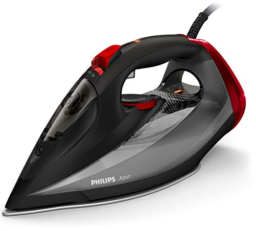 Philips Azur - Plancha (Plancha a vapor, Suela de SteamGlide, 2 m, 250 g/min, Negro, 50 g/min)