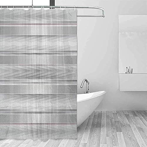 ABRAN Duschvorhang Modern Trippy Stripes Mit Holzeffekten Party Elements Featured Image PRT Duschvorhang Silbergrau