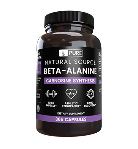 100% Pure Beta-Alanine, 3 Month Supply, 365 Capsules, No Magnesium or Rice Filler, Made in USA, Gluten-Free, Undiluted & Potent Beta-Alanine with No Additives