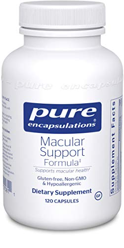Pure Encapsulations - Macular Support Formula - Hypoallergenic Supplement with Enhanced Antioxidant Formula for Healthy Eyes - 120 Capsules