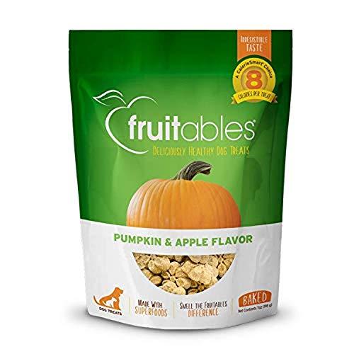Fruitables Dog Treats | Dog Training Treats | Low Calorie Crunchy Treats | Pumpkin & Apple Flavor | 7 Ounces