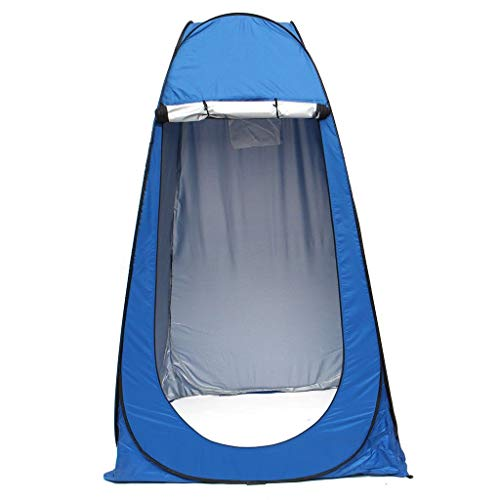 Inditradition Polyester Camping and Outdoor Tent for Cloth Changing, Shower, Picnic (190 cm, Blue) for 1 Person