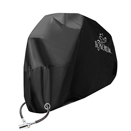 Bonorum Motorrad-Abdeckung - Abdeckplane für Motorräder - Winterfest, Reißfest, Wasserdicht & Abschließbar - XL