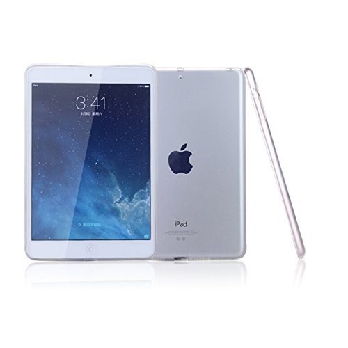 """iPad Air Case, iCoverCase Ultra-thin Silicone Back Cover Clear Plain Soft TPU Gel Rubber Colorful Skin Case Protector Shell for Apple iPad Air/iPad 5 9.7"""" (Clear)"""