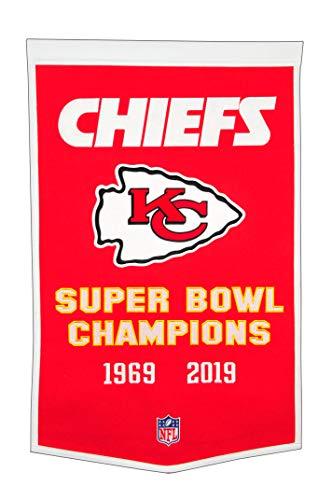 Winning Streak Kansas City Chiefs NFL Wool Felt Super Bowl Dynasty 24x36 Banner