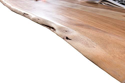 SAM Tischplatte 120x80 cm, Akazie massiv, naturfarben, stilvolle Baumkanten-Platte, pflegeleichtes Unikat - 4