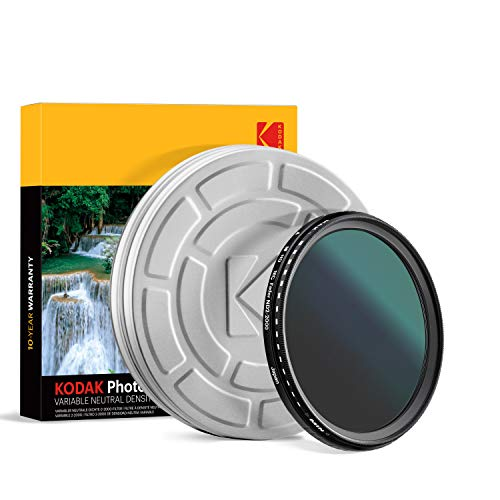 KODAK 77mm Fader Variable ND Filter | Variable Range ND2-2000 Neutral Density Filter, Prevent Overexposure w/Shallow Depth of Field, Capture Motion Blur, Slim, Nano 18-Layer Multi-Coated Glass