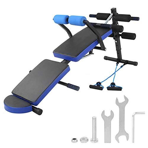 Multifunktion Hantel Hocker Fitness Stuhl Klapp Bauch Bauch Rücken Sit-Ups Hantelbank Workout Station Sit-Ups Bank,Schwarz