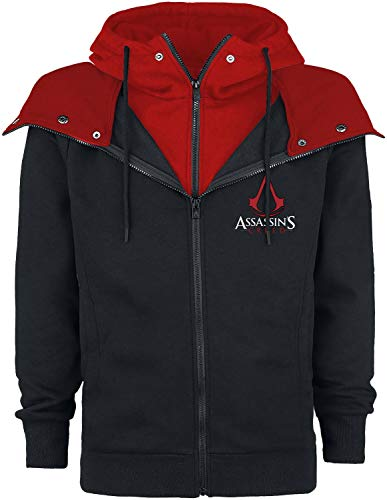 Assassin's Creed Emblem Männer Kapuzenjacke schwarz/rot XL