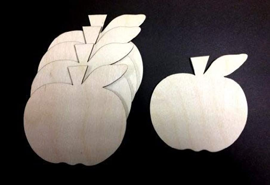Apple Shaped Wooden Craft Shapes 70mm Pack of 10 Shapes Decoupage