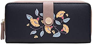 MOCA Floral Elegant Womens Wallet Long Clutch Wallet Hand purse For Womens Women's Girls Ladies big Wallet Clutch Purse bifold Card Holder Wallet hand purse clutch for Women girls