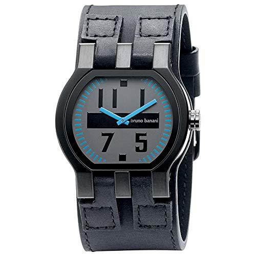 Bruno Banani Herren-Armbanduhr XL Zeno Gents Analog Leder BR20994
