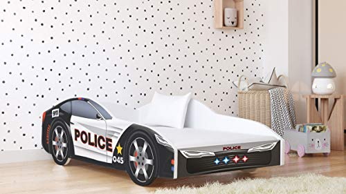 Racing Car Bed Toddler Bed for Boys and Girls with Mattress and Slats |