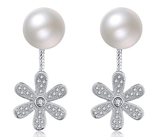 SaySure - Real 925 Sterling Silver Round Ball Earrings
