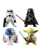 ZXXYTA 4 muñecos y Figuras de Star Wars Adornos de decoración de Juguete(Color:2)