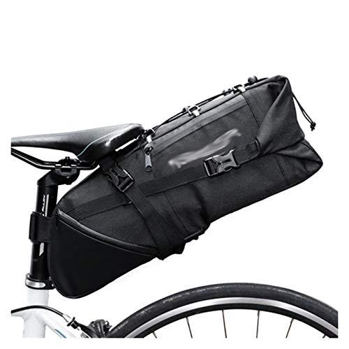 Huiyue Silla de Montar en Bicicleta Bolso de la Bicicleta de Mano Pannier de Ciclo del Ciclo MTB de la Bici del Camino Bolsa 8-10L Mochila Impermeable Cubierta de la Lluvia Bolsa de Bicicleta