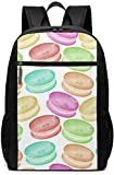 Sac d'ordinateur Portable Laptop Backpack Colorful Macarons Business Travel Computer Bag for Women and Men College School Backpack Fits in Laptop Notebook Bookbag