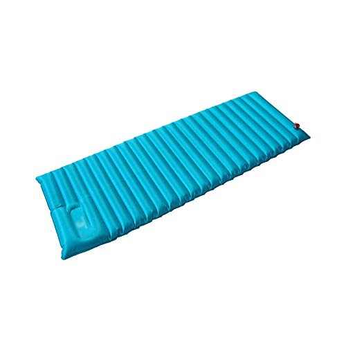 JKLL Ultralight Self Inflating Sleeping Pad for Camping - Best Inflatable Camping Mat for Backpacking, Traveling and Hiking - Hybrid Camp Mattress with Foam Frame (Color : Blue)