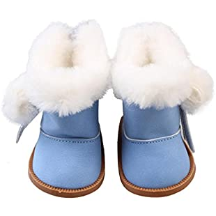 Doll Shoes- Wanshop® Winter Snow Boots Mini Shoes for 18inch Baby Born Dolls (Sky Blue)