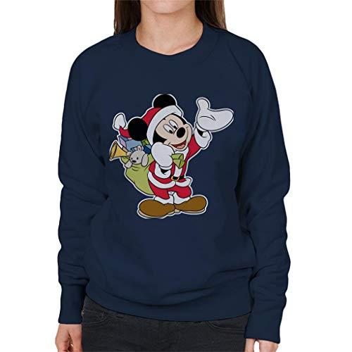 Disney Kerst Mickey Mouse Kerstman pak vrouwen Sweatshirt