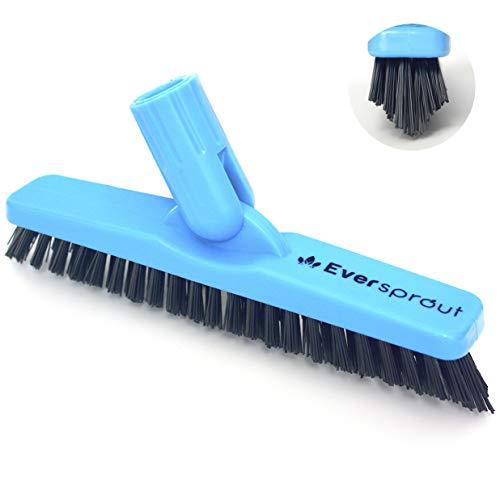 eversprout grout刷子scrubber pro |坚硬的V形刷毛为角落和艰难的污垢而设计旋转设计清洁淋浴瓷砖,厨房,浴室,户外混凝土|扭转附件(无极)